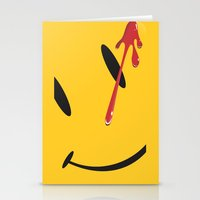 watchmen Stationery Cards featuring Who watches the watchmen?  by Vickn
