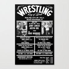 #11-B Memphis Wrestling Window Card Canvas Print