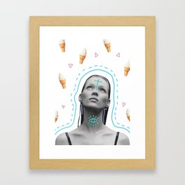 Kate x Ice Scream Framed Art Print