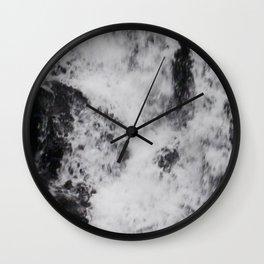 Foaming Waterfall Pareidolia Wall Clock