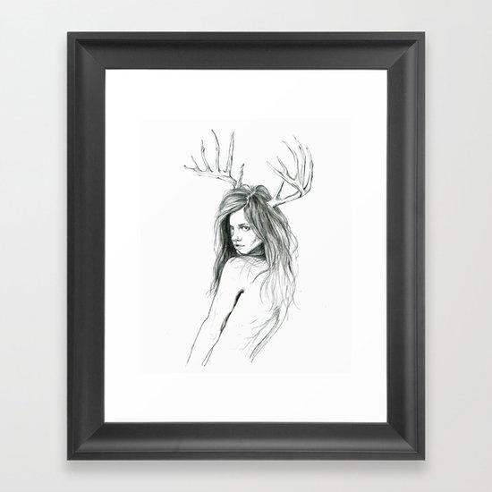 Mon Petit Chevreuil (My Little Deer) Framed Art Print