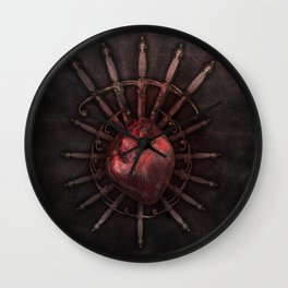 Hurt by injustice Wall Clock