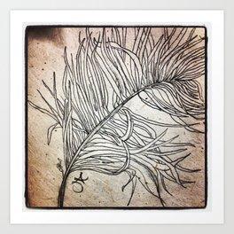 Palm Flower on Earth Day Art Print