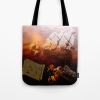 pirates Tote Bags featuring Pirates  by valzart