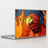 metroid Laptop & iPad Skins featuring Samus (Metroid) by Peerro