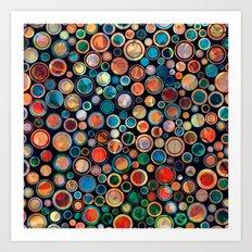 Leaves in Dots Art Print