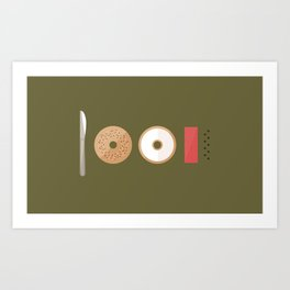 New York Normal: Bagels, Lox, & Schmear. Art Print