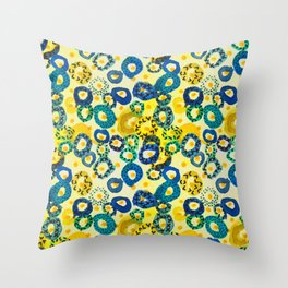 Shimmering Bubbles Throw Pillow