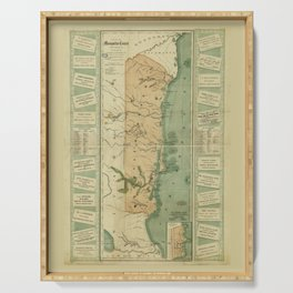 Map of the Mosquito Shore, Nicaragua (1894) Serving Tray
