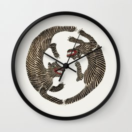 Japanese Tiger Wall Clock