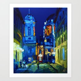 "Artwork ""Evening in Lviv"" Art Print"
