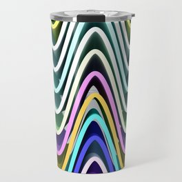 Color Waves Travel Mug