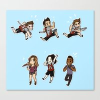 lacrosse Canvas Prints featuring Lacrosse by kendrawcandraw