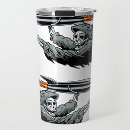Grim Reaper launching missile. Travel Mug