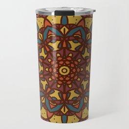 Mandala Autumn Colors Travel Mug