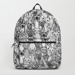 just sphynx cats black white Backpack