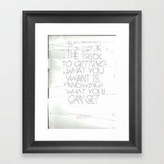 The Trick Framed Art Print