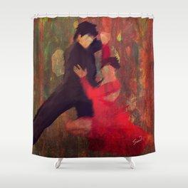 Tango de Fuego/Fire Tango Shower Curtain