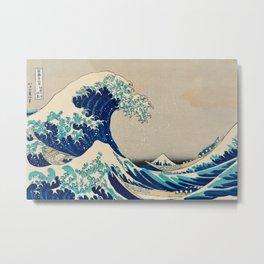 Katsushika Hokusai - Kanazawa Oki Nami Ura Metal Print