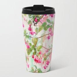 Rainbow Fuchsia Floral Pattern Travel Mug