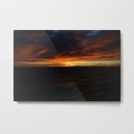 South Pacific Sunset DPG150625c Metal Print