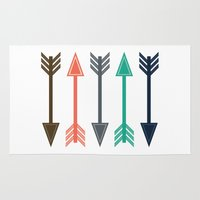 arrows Area & Throw Rugs featuring Arrows by Gathered Nest Designs