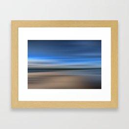 Beach Blur Framed Art Print