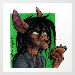 Let Me Eat in Peace Art Print