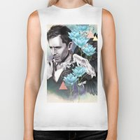 tom hiddleston Biker Tanks featuring Tom Hiddleston by Yan Ramirez