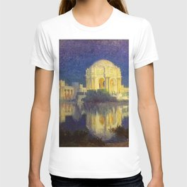 San Francisco Palace of the Fine Arts Temple and Lagoon landscape painting by Colin Campbell Cooper  T-shirt