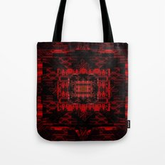 Black in Red Diamond Pattern  Tote Bag