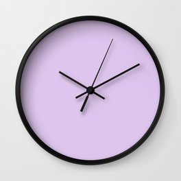 LAVENDER BLOSSOM pastel solid color Wall Clock