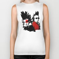 mozart Biker Tanks featuring Beethoven Mozart Punk Composers by viva la revolucion