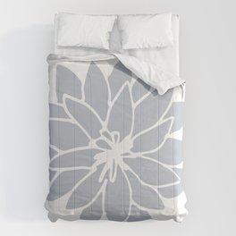 Flower Bluebell Blue on White Comforters