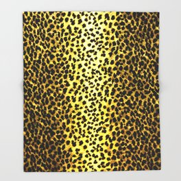 Leopard Print Animal Wallpaper Throw Blanket