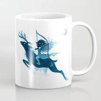 elf Mugs featuring Elf Archer by Freeminds