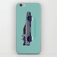 Flying Delorean Time Machine - Back to the future series iPhone & iPod Skin