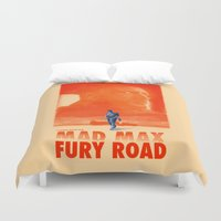 mad max Duvet Covers featuring Mad Max: Fury Road by days & hours