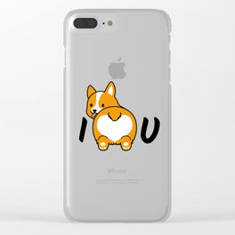 I love corgis and you Clear iPhone Case