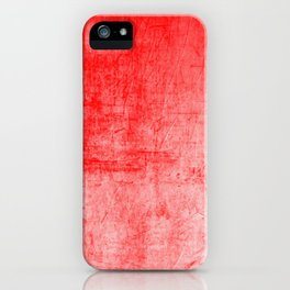Distressed Coral Textured Canvas iPhone Case