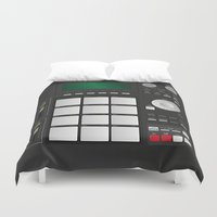 drum Duvet Covers featuring DRUM MACHINE by LTR ARTWORK