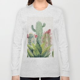 Cactus Watercolor Long Sleeve T-shirt