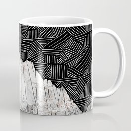 The rocky crosshatch mountains Coffee Mug