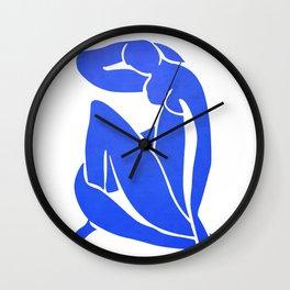BLUE MATISSE CUT OUT Wall Clock