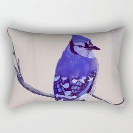 Blue Jay Bird Rectangular Pillow