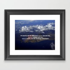 Difference In Between Framed Art Print