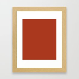 Chinese Red - solid color Framed Art Print