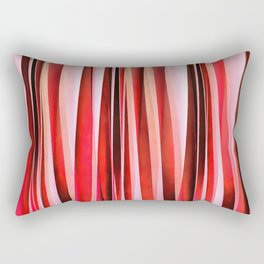 Red Adventure Striped Abstract Pattern Rectangular Pillow