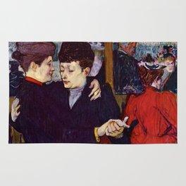 """Henri de Toulouse-Lautrec """"Two Woman Waltzing"""" Rug"""