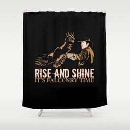 Its Falconry Time Shower Curtain